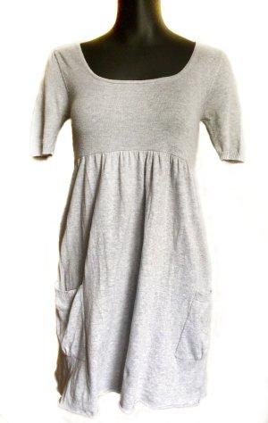 Babydoll-jurk lichtgrijs Viscose