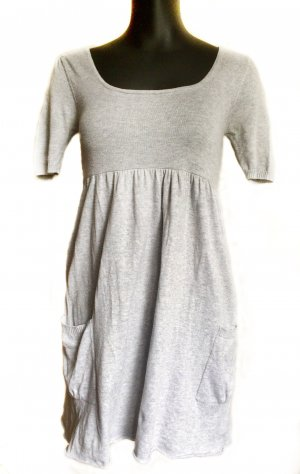 Babydoll Dress light grey viscose