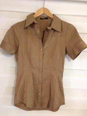 Camisa de manga corta color bronce