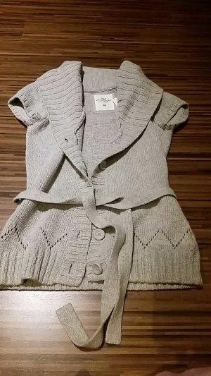 H&M Smanicato lavorato a maglia grigio-argento