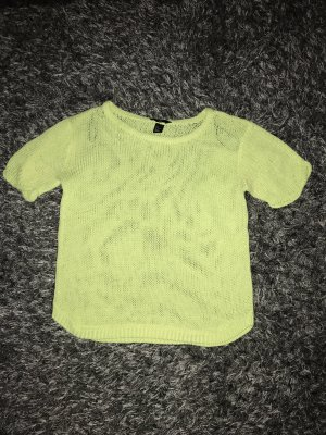 H&M Short Sleeve Sweater lime yellow-neon yellow