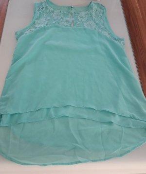 Chemisier body turquoise
