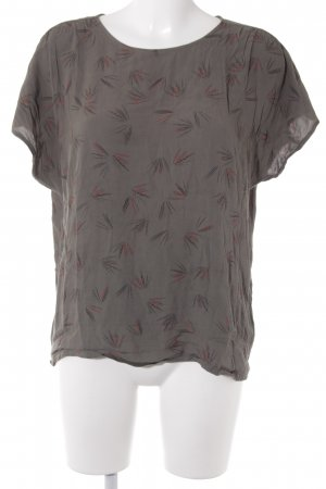 Kurzarm-Bluse abstraktes Muster Casual-Look