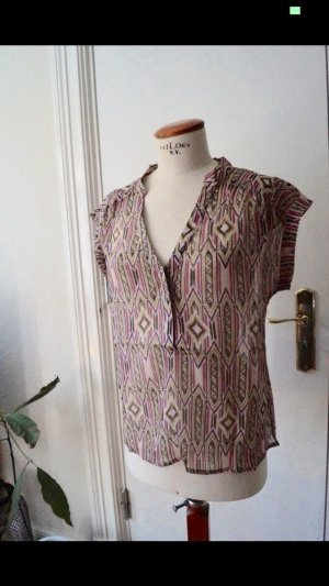 3 Suisses Short Sleeved Blouse pink-pink polyester