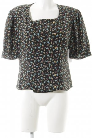 Kurzarm-Bluse florales Muster
