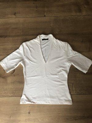 Kurzarm Bluse Gr. 36 in weiss