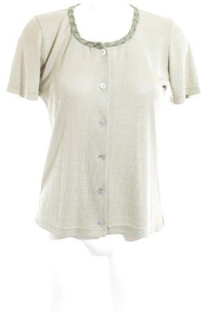 Kurzarm-Bluse graugrün-olivgrün Casual-Look