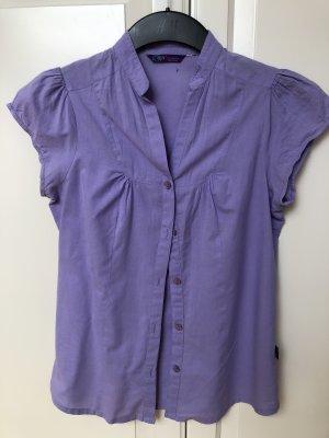 Kurzarm Bluse in lila / Flieder