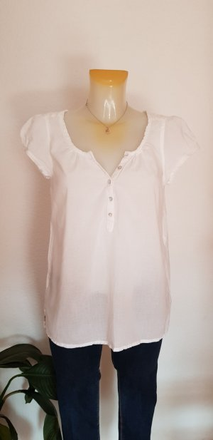 Kurzarm Bluse in weiss