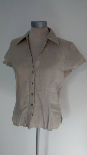kurzarm Bluse Leinen Gr. UK 10 EUR 38 Top Oberteil Marks & Spencer