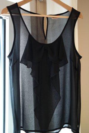 Kurzarm Bluse ONLY Gr. 40 schwarz Schleife