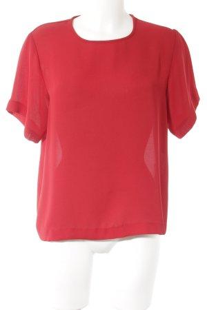 Kurzarm-Bluse rot Elegant
