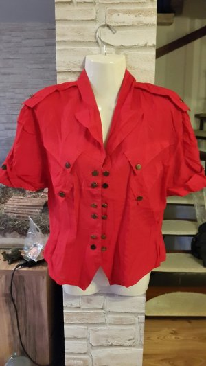 Short Sleeved Blouse red