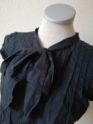 Gap Blusa collo a cravatta nero Cotone