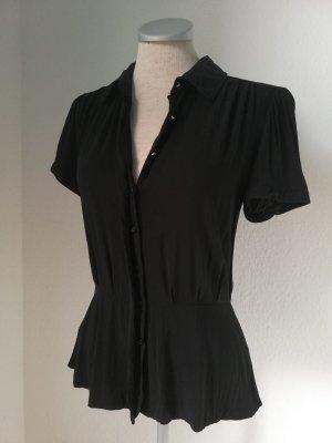 Blusa de manga corta negro Viscosa