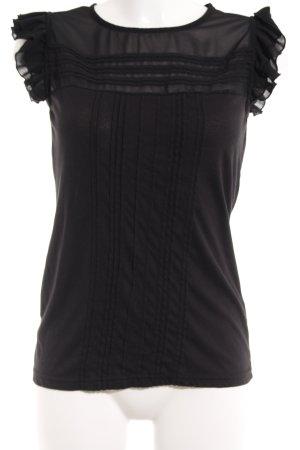 Short Sleeved Blouse black casual look
