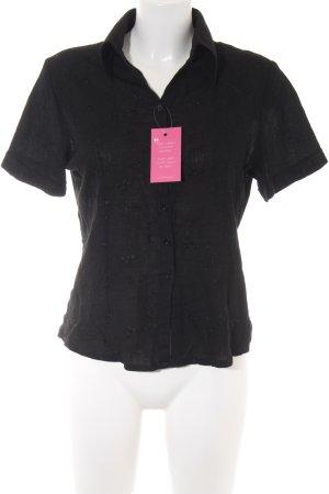 Kurzarm-Bluse schwarz Casual-Look