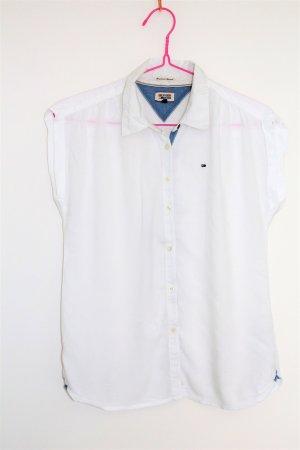 Kurzarm-Bluse von Tommy Hilfiger Größe XS