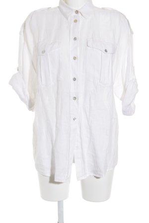 Blusa de manga corta blanco estilo «business»