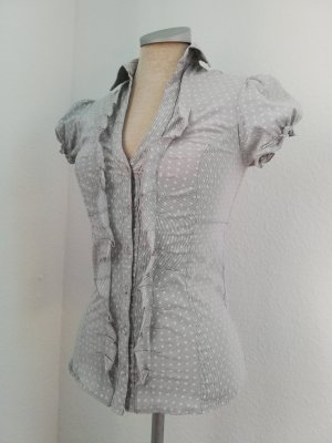 Blusa bianco-grigio chiaro Cotone