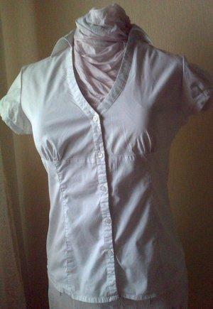 Kurzarm-Bluse weiß in 42 (Baumwolle)