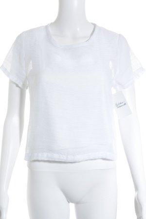Kurzarm-Bluse weiß minimalistischer Stil