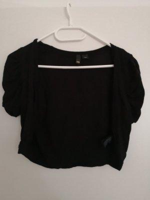 H&M Knitted Bolero black viscose