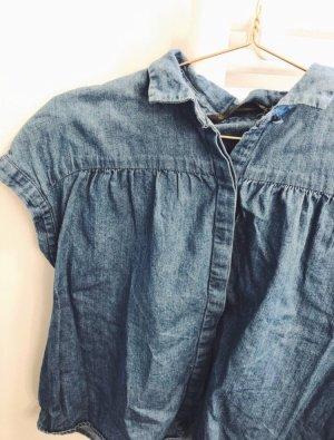 Kurzarm Denim Shirt von Zara
