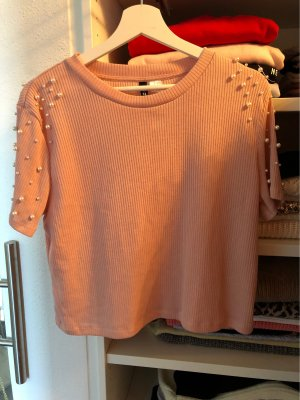 H&M Divided Pull à manches courtes rose clair