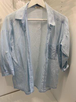 Camicia a maniche corte azzurro