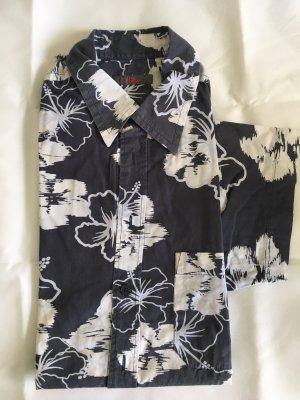 s.Oliver Shirt met korte mouwen donkerblauw-wit Gemengd weefsel