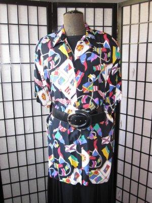 Kurzarm Hemdbluse multicolor *Viskose*  Gr. 48-52