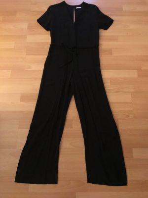 Kurzarm-Jumpsuit  schwarz  Größe 36