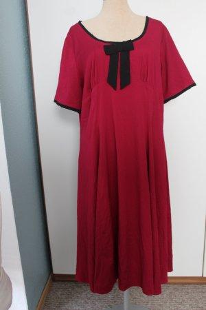 kurzarm Kleid Hell Bunny Vixen 2XL UK 18 EUR 46 weinrot schwarz Rockabilly
