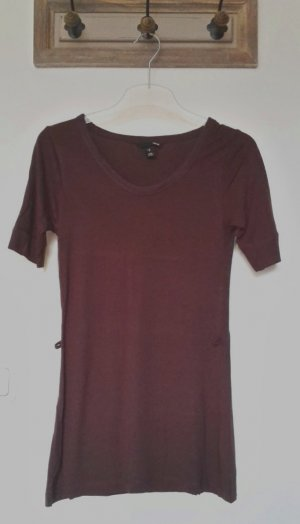 H&M Long Shirt brown-dark brown