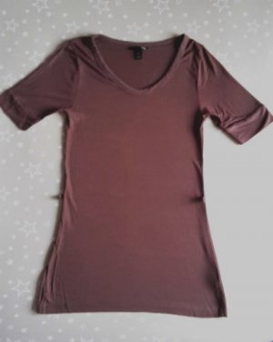 H&M Lang shirt donkerbruin