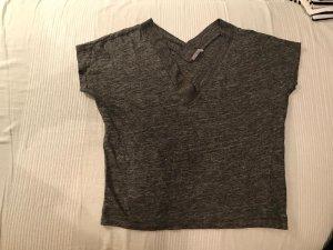 Kurzarm Pullover grau meliert Zara S 36