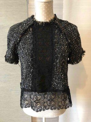 Kurzarm-Pullover in Jacquard-Optik von ZARA