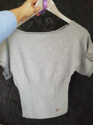 KAREN MILLEN Short Sleeve Sweater silver-colored-light grey