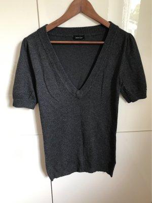 Laura Scott Sweater met korte mouwen donkergrijs-antraciet