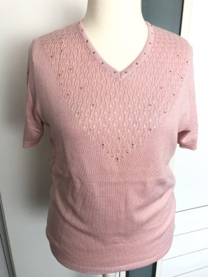 Jersey de manga corta rosa claro