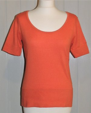 Heine Short Sleeve Sweater orange mixture fibre