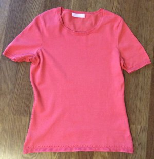 St. emile Short Sleeve Sweater bright red silk