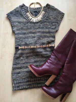 Kurzarm-Pulloverkleid