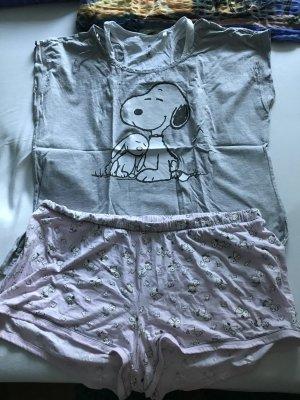 Peanuts Pyjama light grey-light pink