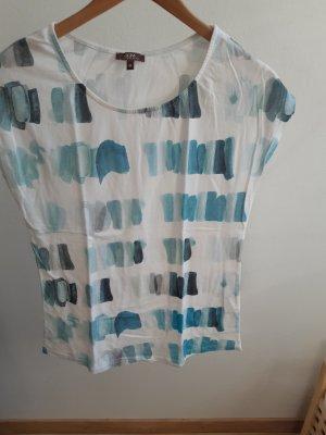 Kurzarm Shirt mit schönem blauen Muster in Größe M von Grain de Malice