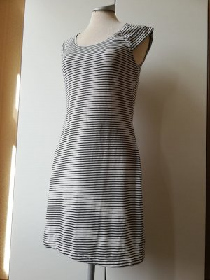 kurzarm Shirtkleid Kleid kurz Minikleid schwarz weiß gestreift Streifen Gr. 36 38 Esmara neu