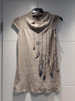 Camisa tejida marrón arena
