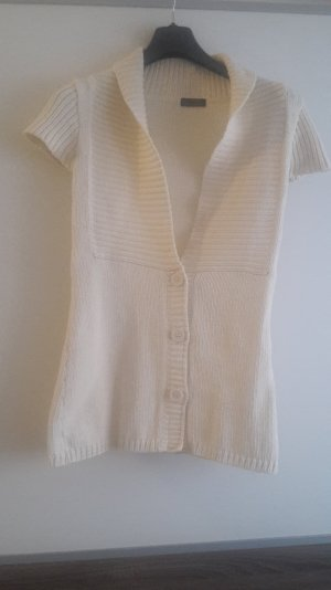 Only Short Sleeve Knitted Jacket white mixture fibre