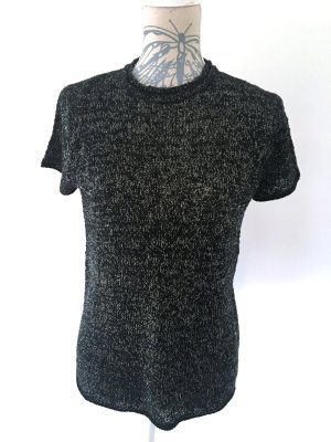 Zara Short Sleeve Sweater black-sand brown